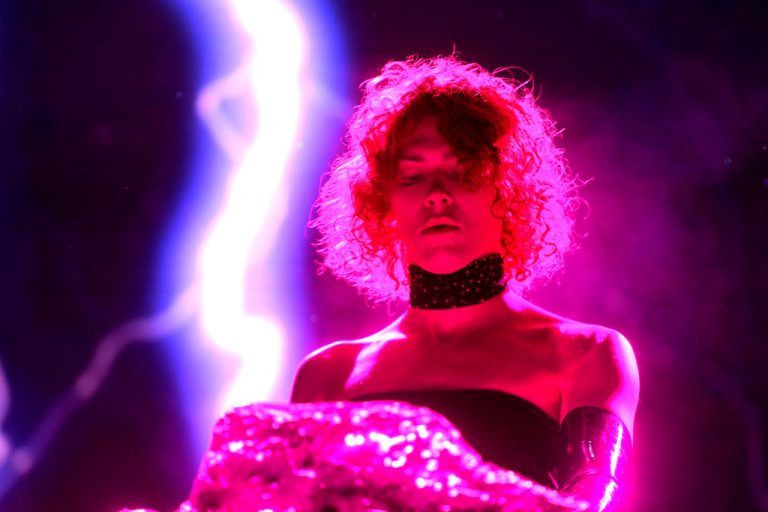 INDIO, CALIFORNIA - APRIL 19: SOPHIE performs at Mojave Tent during the 2019 Coachella Valley Music And Arts Festival on April 19, 2019 in Indio, California. (Photo by Frazer Harrison/Getty Images for Coachella)