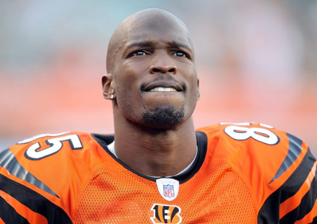 Chad Johnson signs Ochocinco Bengals jerseys like a champion (Video)