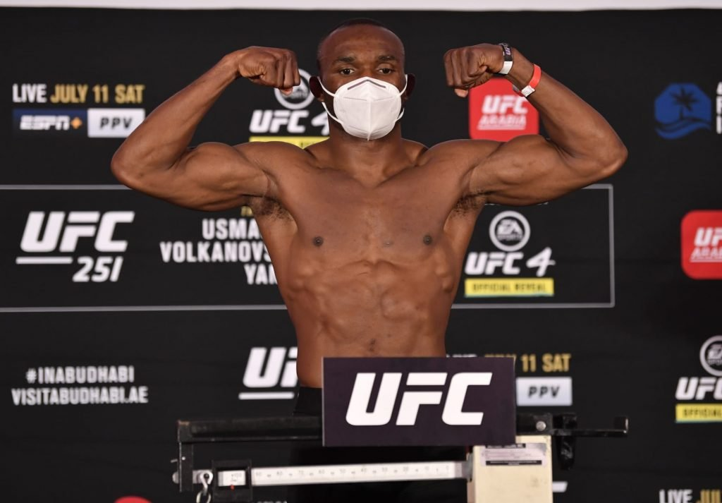 Kamaru Usman vs. Gilbert Burns live weigh-in results