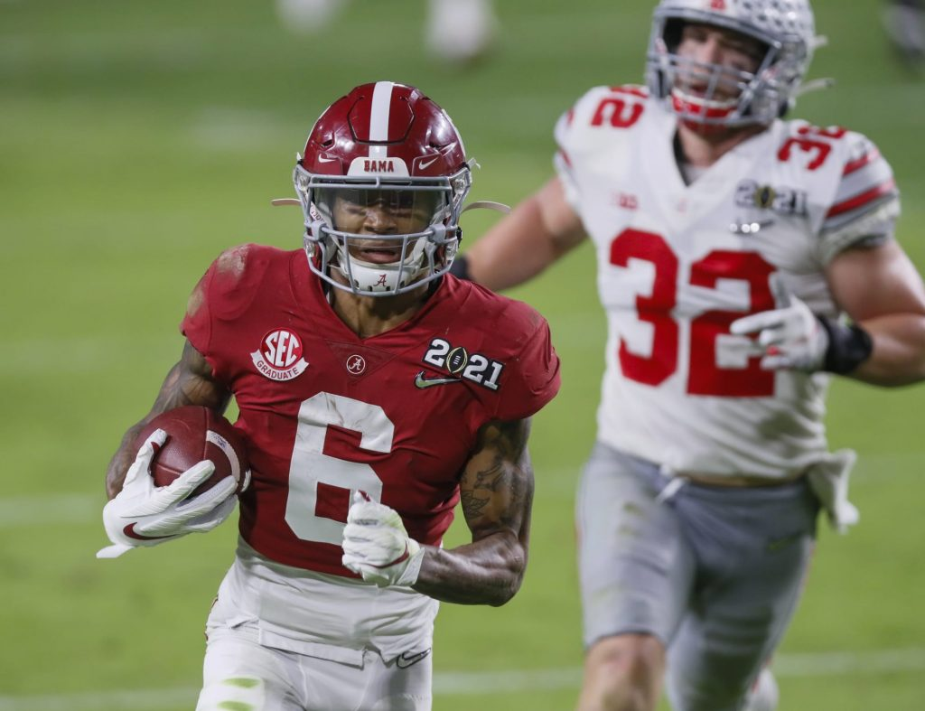 Nick Saban has hilarious mic-drop comment for DeVonta Smith's haters