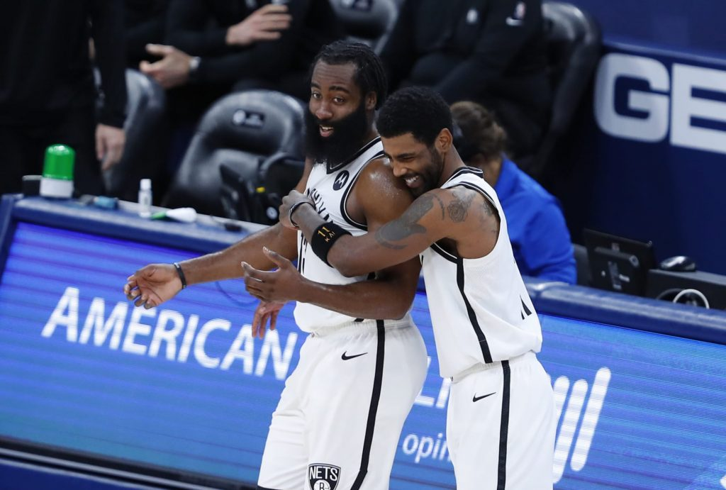 James Harden and Kyrie Irving decide who should be the Nets' point guard