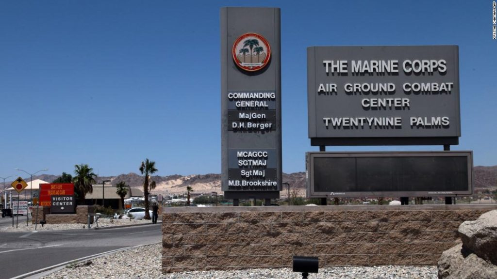 California Twentynine Palms: Explosives are missing from the nation's largest Marine Corps base and an investigation is underway