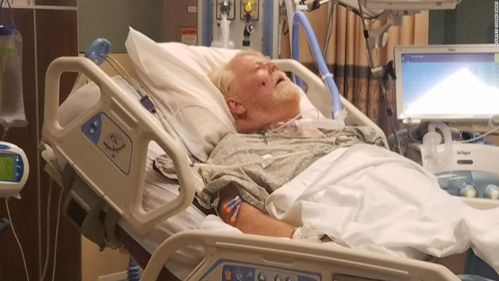 A Kansas grandfather got Covid-19 in July. He's still in the hospital