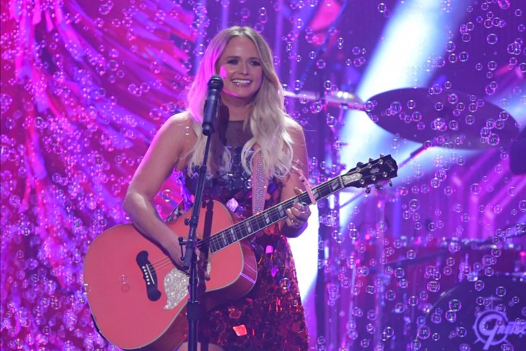 "Miranda Lambert performs ""It All Comes Out in the Wash"" at the 53rd annual CMA Awards at Bridgestone Arena on Wednesday, Nov. 13, 2019, in Nashville, Tenn. (AP Photo/Mark J. Terrill)"