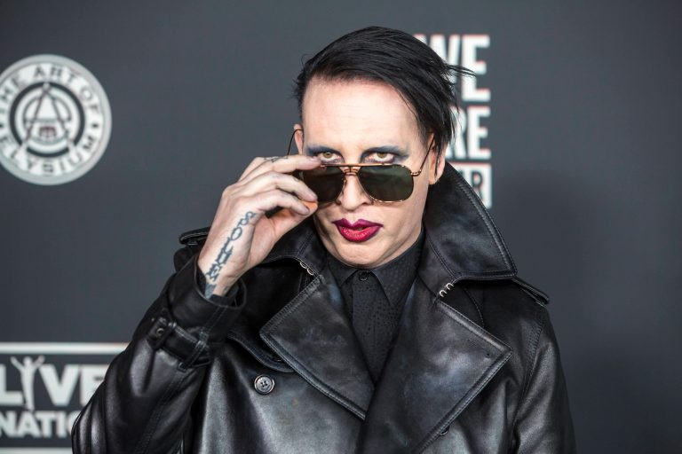 Marilyn Manson attends The Art of Elysium's 13th Annual Black Tie Artistic Experience 'Heaven' at The Palladium in Hollywood, Los Angeles, California, USA, on 04 January 2020.