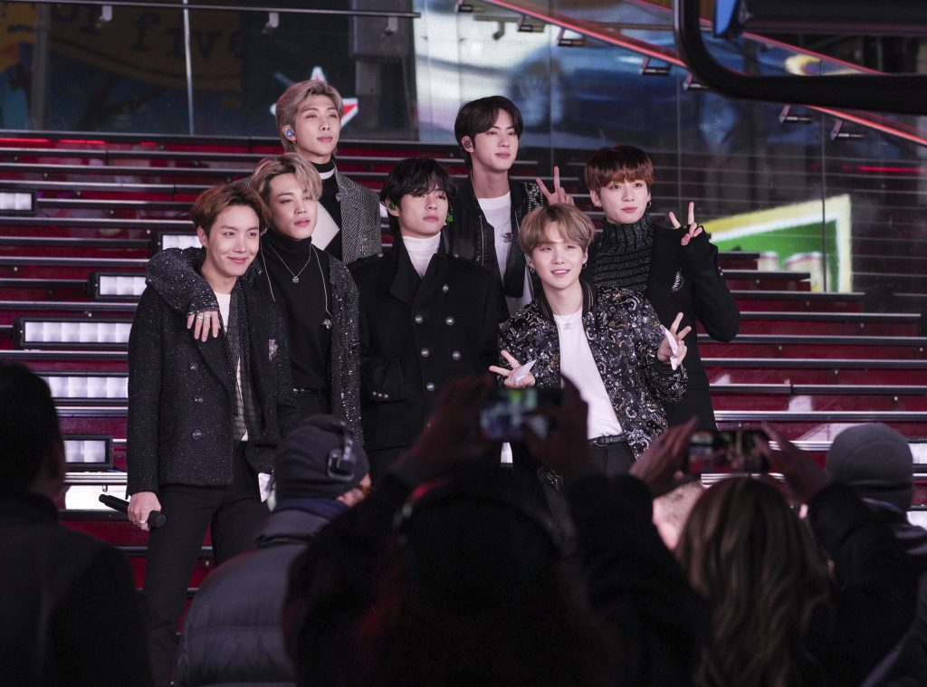 DECEMBER 10th 2020: BTS has been named TIME Magazine's Entertainer of the Year 2020. - File Photo by: zz/John Nacion/STAR MAX/IPx 2019 12/31/19 BTS - the South Korean K-Pop boy band comprised of members Jin, Suga, J-Hope, RM, Jimin, V and Jungkook - performing in concert during Dick Clark's New Year's Rockin' Eve on December 31, 2019 in Times Square, New York City. (NYC)