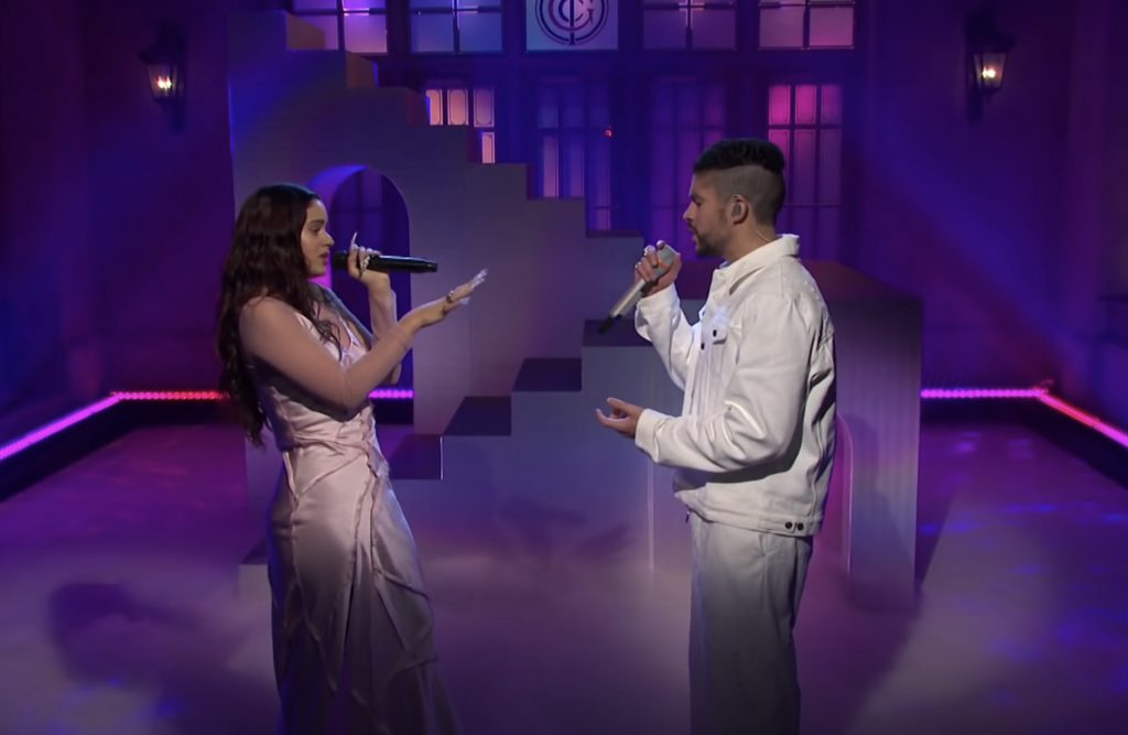 See Bad Bunny Sing With Rosalía, Appear in Sea Shanty Sketch on 'SNL'