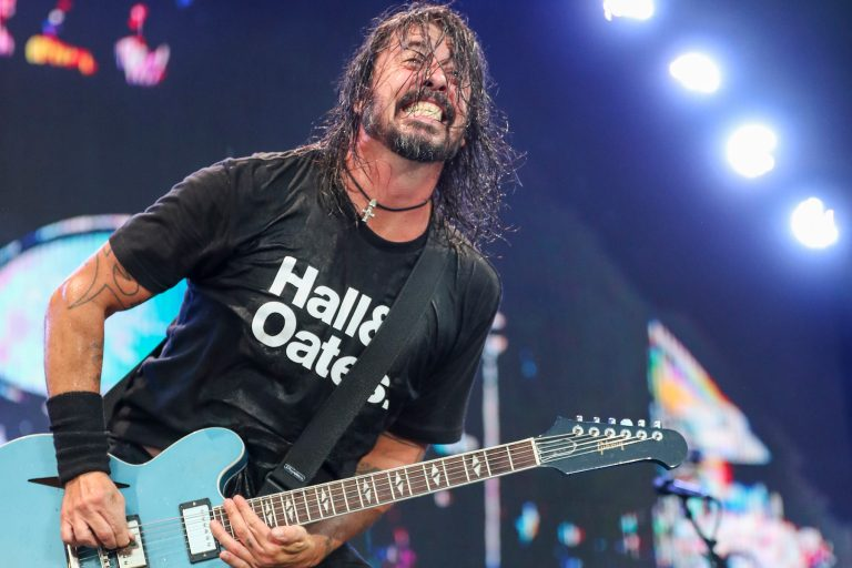 Dave Grohl of the Foo Fighters performs at Pilgrimage Music and Cultural Festival at The Park at Harlinsdale on Sunday, September 22, 2019, in Franklin, Tenn. (Photo by Al Wagner/Invision/AP)