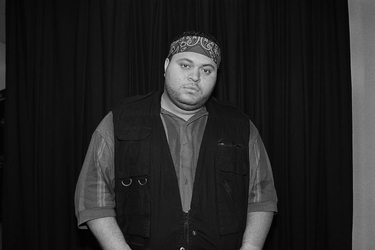 MILWAUKEE - MAY 1993:  Rapper Prince Markie Dee poses for photos backstage at the Marcus Amphitheatre in Milwaukee, Wisconsin in May 1993.  (Photo By Raymond Boyd/Getty Images)