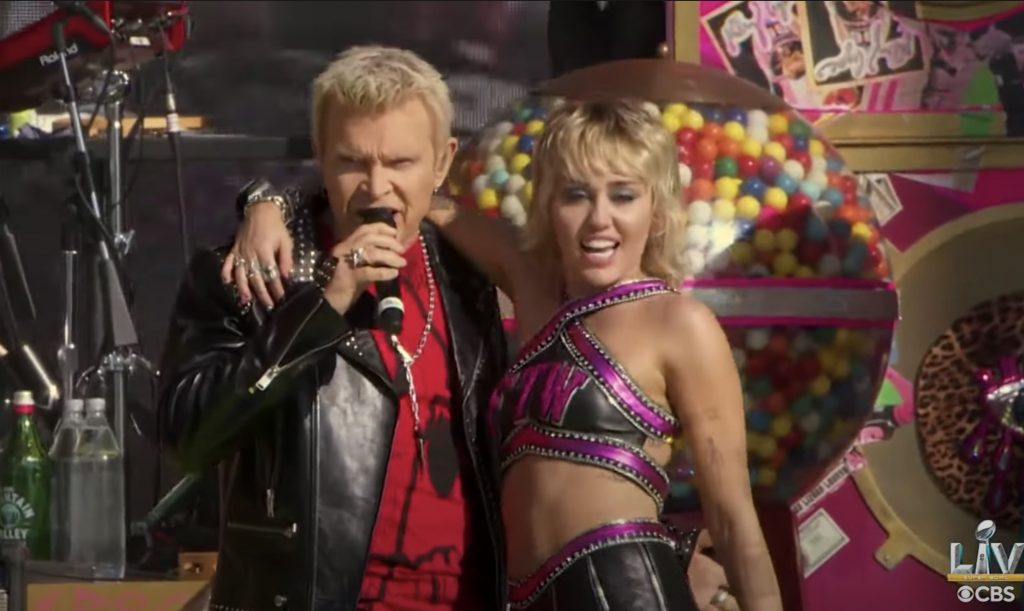 See Miley Cyrus Headline Super Bowl LV Tailgate, Bring Out Billy Idol