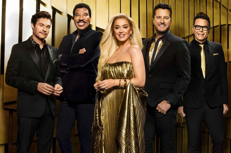 Ryan Seacrest, Lionel Richie, Katy Perry, Luke Bryan and Bobby Bones on 'American Idol.'