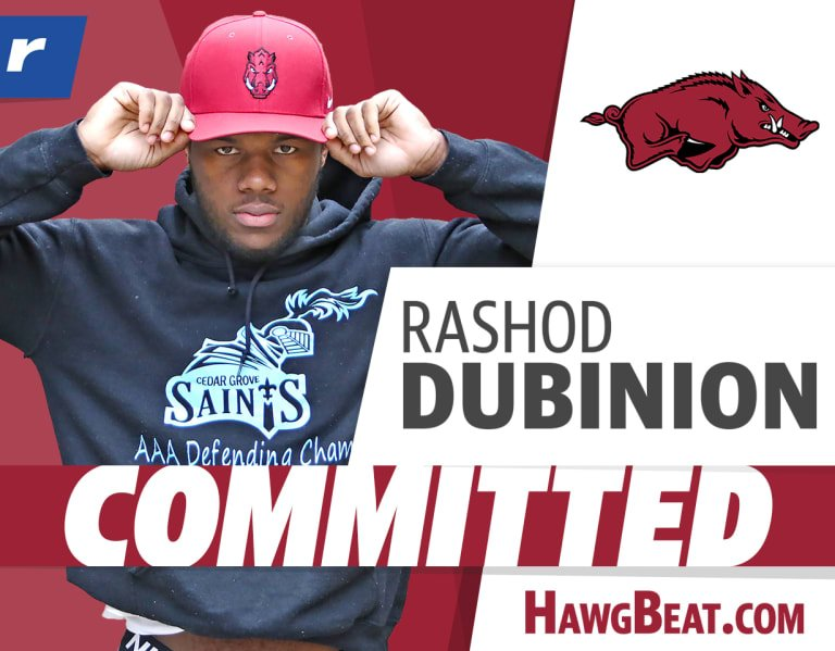 "Dubinion to Arkansas: ""I think it is a great fit for me and my ability"""