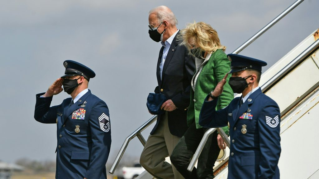 Biden Arrives In Houston To Check On Recovery From Deadly Winter Storms : NPR
