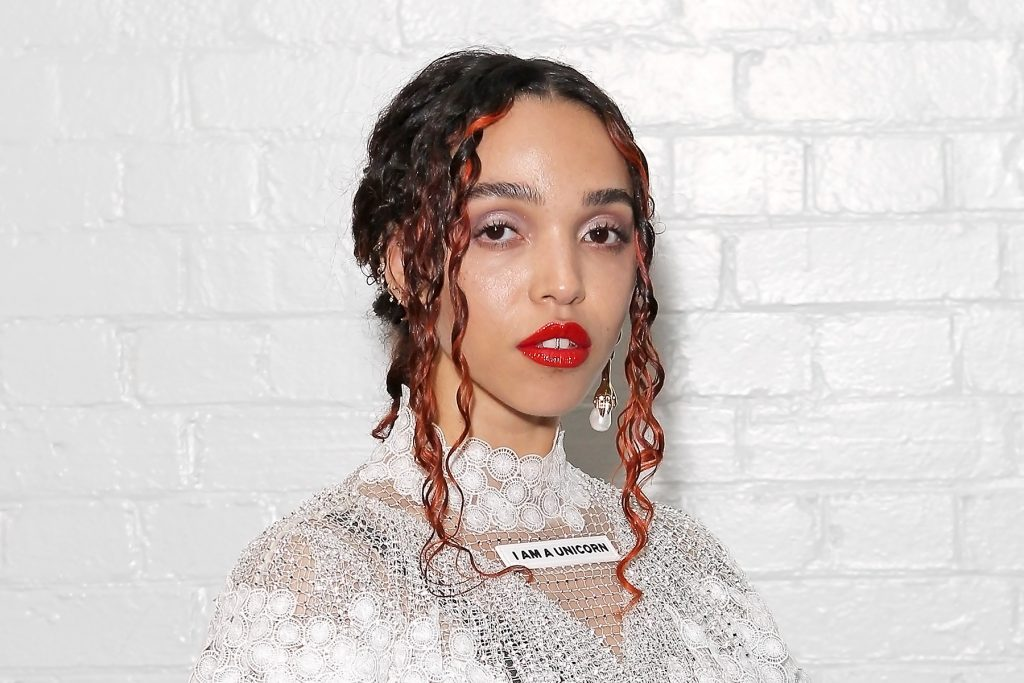LONDON, ENGLAND - FEBRUARY 17:    FKA Twigs attends the Burberry Autumn/Winter 2020 show during London Fashion Week at Kensington Olympia on February 17, 2020 in London, England. (Photo by David M. Benett/Dave Benett/Getty Images for Burberry)