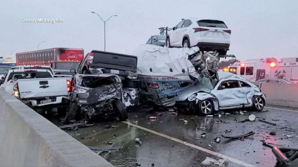 At least 5 dead in massive freeway pileup in Texas: Police