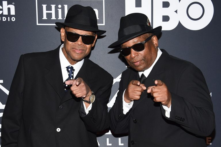 Music producers Jimmy Jam, left, and Terry Lewis attend the 2019 Rock & Roll Hall of Fame induction ceremony at the Barclays Center on Friday, March 29, 2019, in New York. (Photo by Evan Agostini/Invision/AP)