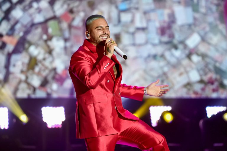 LOS ANGELES, CA – DECEMBER 31st: In this image released on December 31, Maluma performs at Dick Clark's New Year's Rockin' Eve with Ryan Seacrest 2021 broadcast on December 31, 2020 and January 1, 2021. (Photo by Alberto E. Rodriguez/Getty Images for dick clark productions)