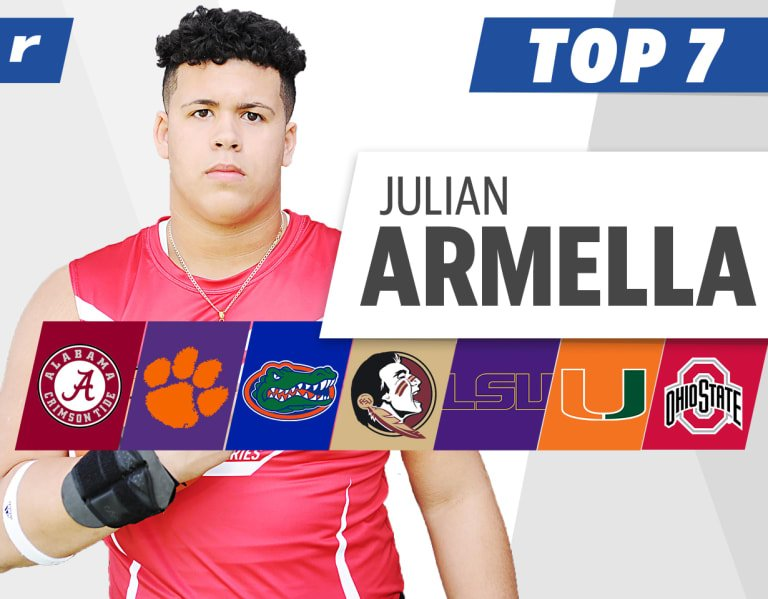 Five-star OL Julian Armella opens up about top schools