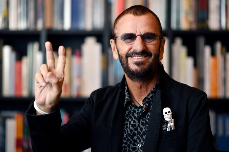 "CAPTION CORRECTION, CORRECTS PHOTOGRAPHER CREDIT TO CHRIS PIZZELLO , INSTEAD OF RINGO STARR  Ringo Starr poses for a portrait at Book Soup on Wednesday, Sept. 23, 2015, in West Hollywood, Calif. Starr's book ""Photograph"" features rare and unseen photographs from his archives. (Photo by Chris Pizzello/Invision/AP)"