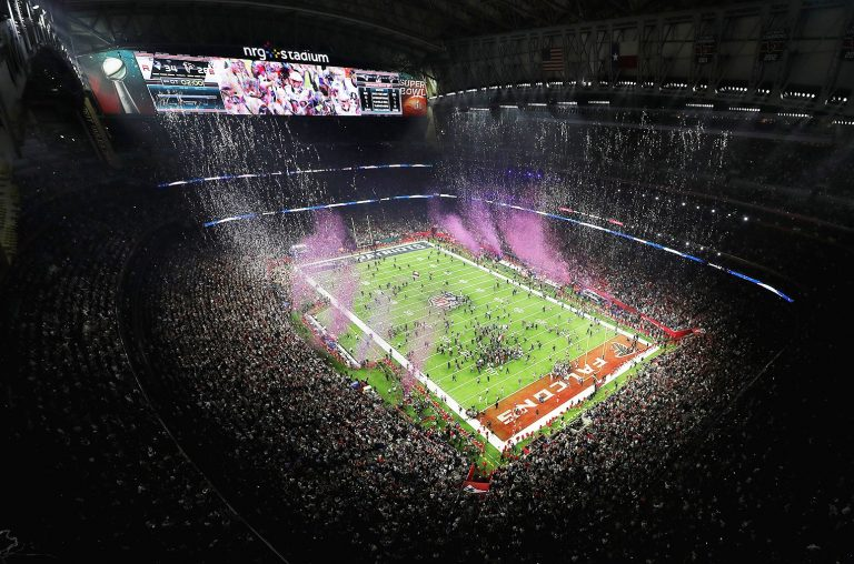 A general view of the field following the Patriots 34-28 win over the Falcons during Super Bowl 51 at NRG Stadium on Feb. 5, 2017 in Houston, Texas.