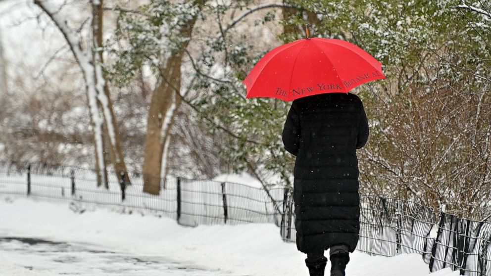 Major winter blast coming to an end as milder temperatures move into South