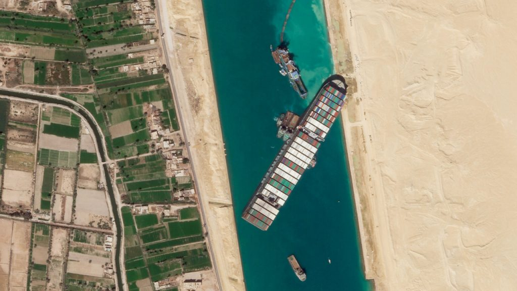Suez Canal Ship Is Partially Freed