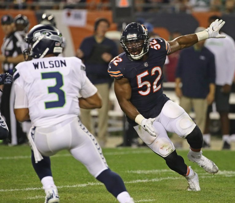 Could Chicago trade Khalil Mack for Russell Wilson?