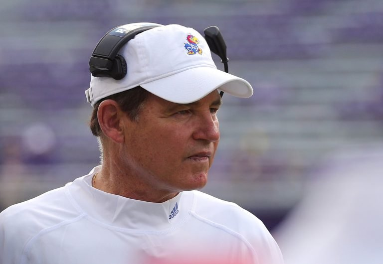 Kansas football parts ways with Les Miles amid LSU harassment scandal