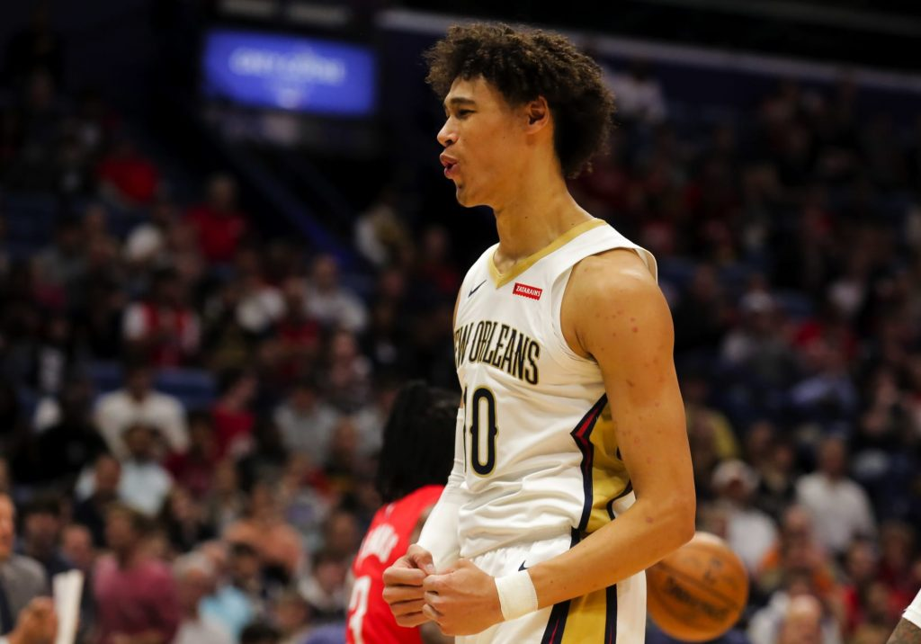 Jaxson Hayes sends Reggie Jackson to retirement with brutal poster dunk