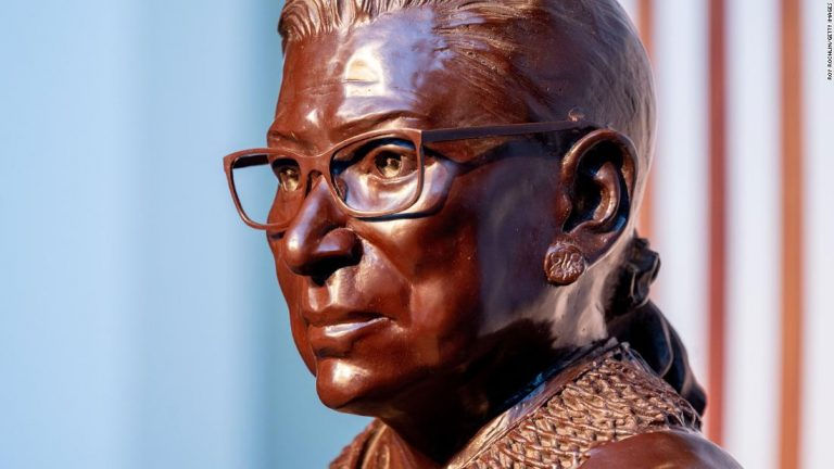 Hometown hero Ruth Bader Ginsburg honored with bronze statue in Brooklyn