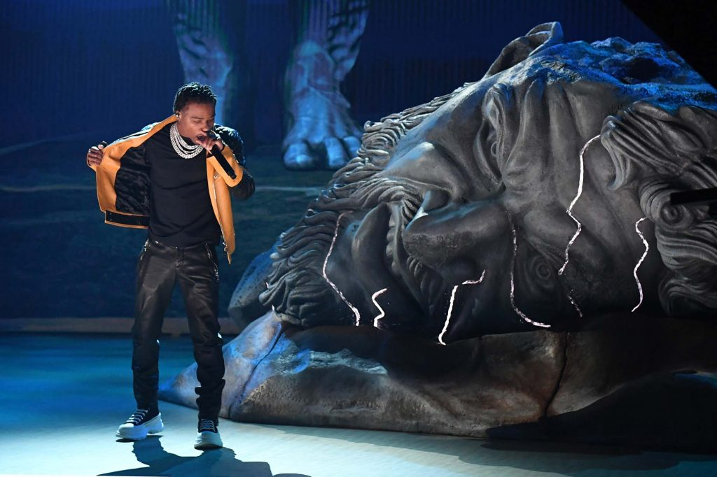 LOS ANGELES, CALIFORNIA: In this image released on March 14, Roddy Ricch performs onstage during the 63rd Annual GRAMMY Awards at Los Angeles Convention Center in Los Angeles, California and broadcast on March 14, 2021. (Photo by Kevin Winter/Getty Images for The Recording Academy)