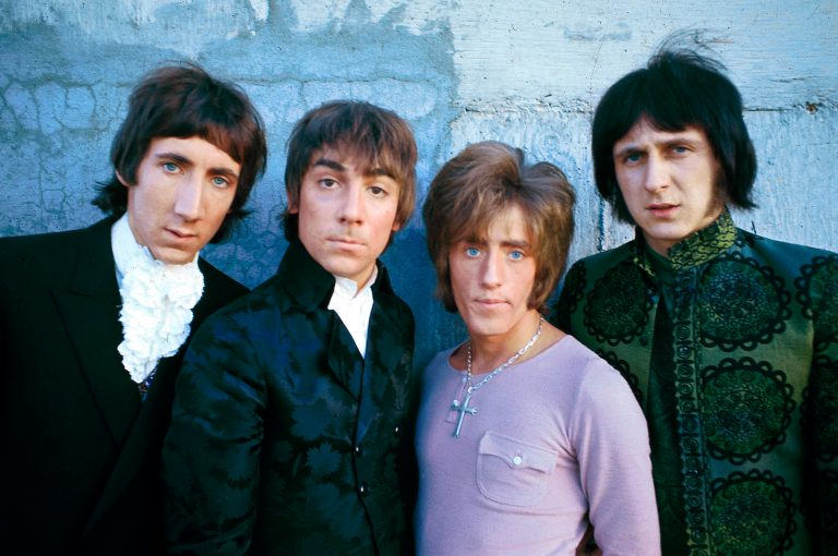 Photo of Roger DALTREY and Pete TOWNSHEND and The Who and Keith MOON and John ENTWISTLE; L-R: Pete Townshend, Keith Moon, Roger Daltrey, John Entwistle