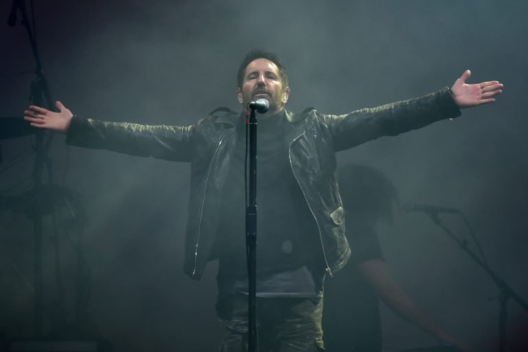 Nine Inch Nails group with singer Trent Reznor perform at concert on the third day of Aerodrome Festival in Panensky Tynec, Czech Republic, Friday, June 30, 2018. Photo/Ondrej Hajek (CTK via AP Images)