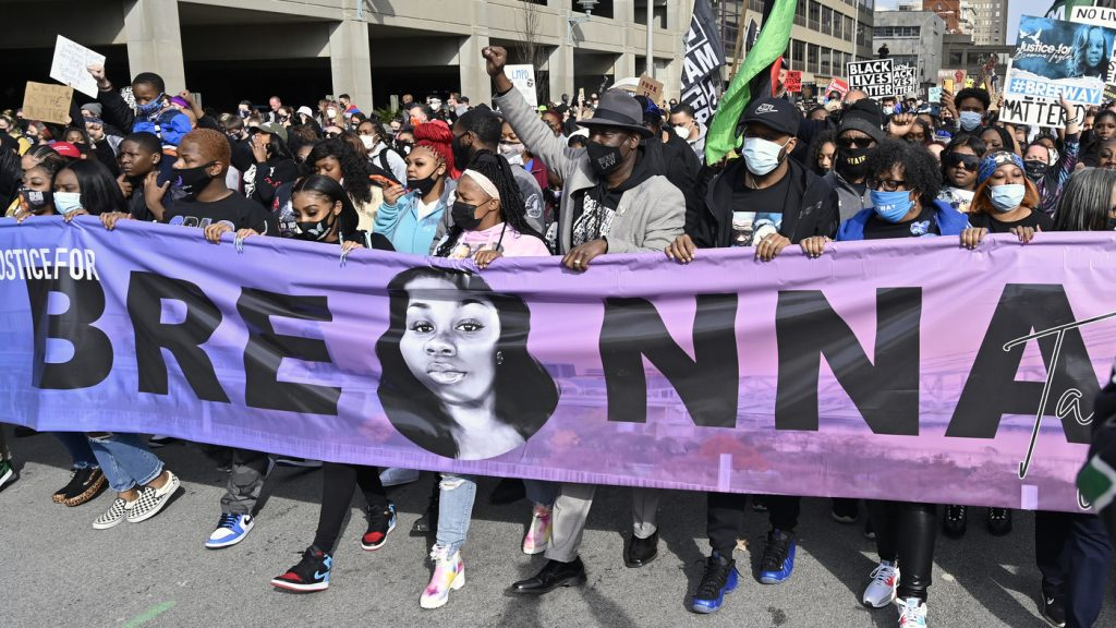 Hundreds Gather To Demand Justice For Breonna Taylor One Year After Her Death : NPR