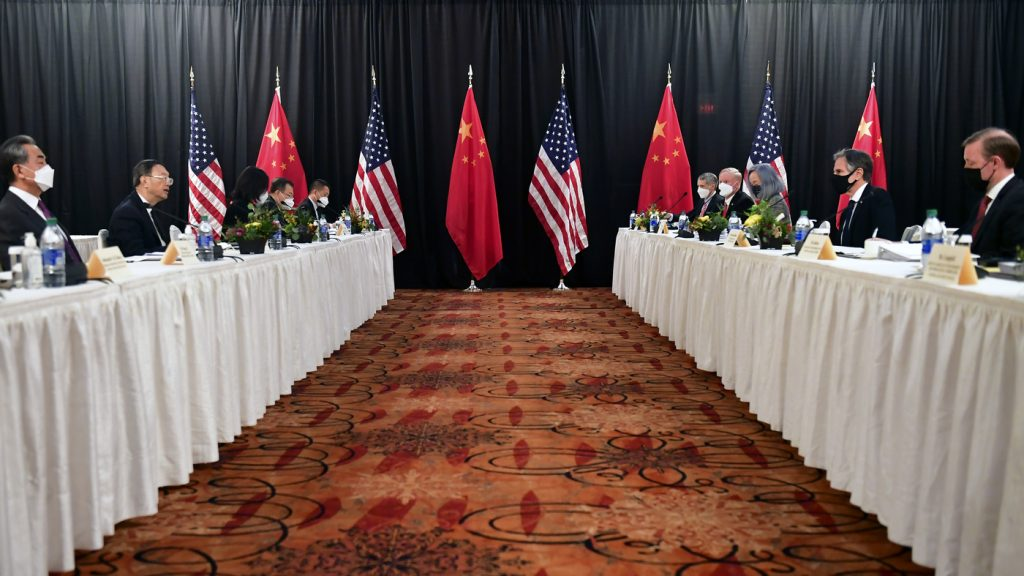 U.S., Chinese Officials Trade Swipes At Photo Op : NPR