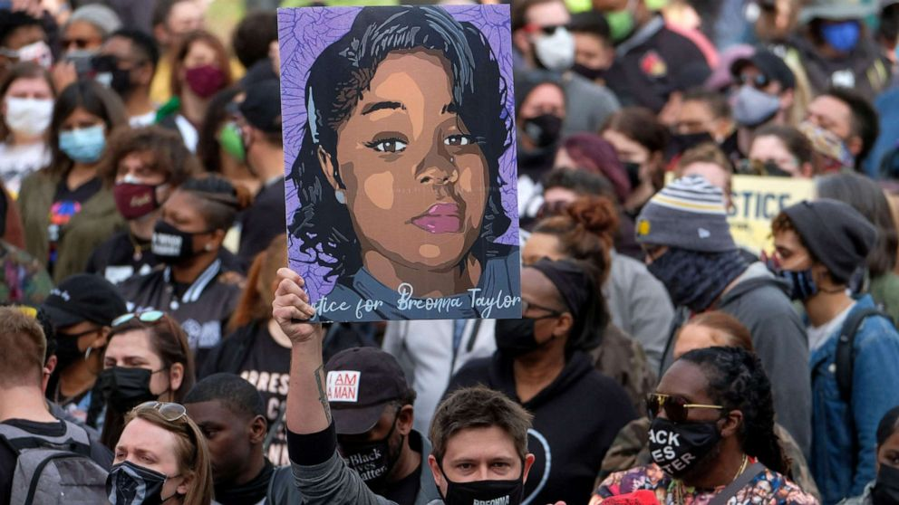 A year after her death, protesters take to the streets to demand justice for Breonna Taylor