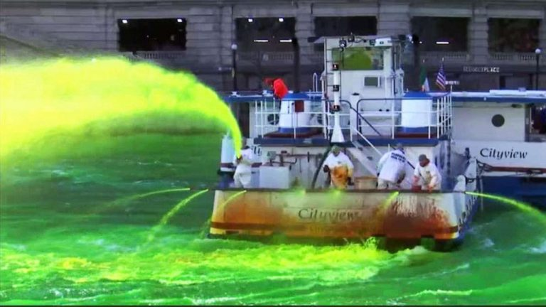 Chicago limits St. Patrick's Day celebrations but continues river dyeing tradition