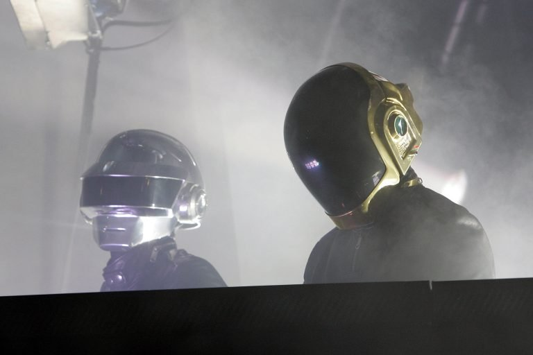 Guy-Manuel de Homem-Christo and Thomas Bangalter of Daft punk (Photo by Jean Baptiste Lacroix/WireImage)