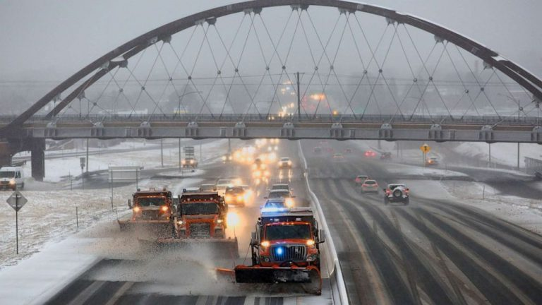 Major storm moving through central US as separate storm follows behind