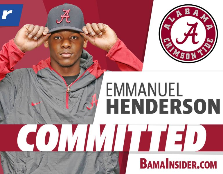 "Emmanuel Henderson to 'Bama: ""I am going to the top school in the country"""