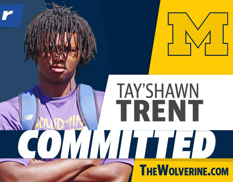 Four-star WR Tay'Shawn Trent picks Michigan