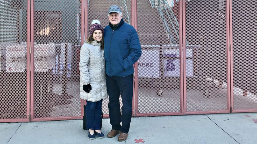 Couple who met at Fenway Park in '60s returns for COVID-19 vaccines