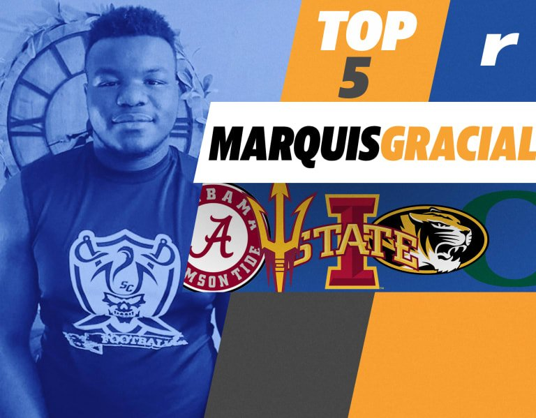 Five top schools for Rivals250 DT Marquis Gracial