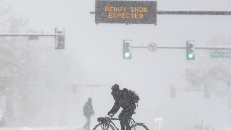 Winter Storm Slams West With Heavy Snow, Strong Winds : NPR