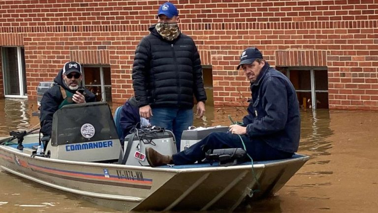 COVID-19 vaccines rescued by boat amid severe flooding in Kentucky