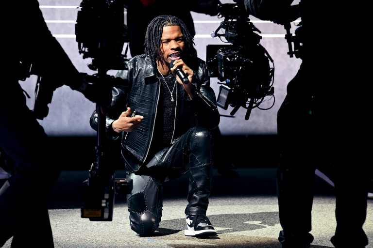 LOS ANGELES, CALIFORNIA - MARCH 14: In this image released on March 14th, Lil Baby performs at the 63rd Annual GRAMMY Awards broadcast on March 14th, 2021. (Photo by Kevin Winter/Getty Images for The Recording Academy)