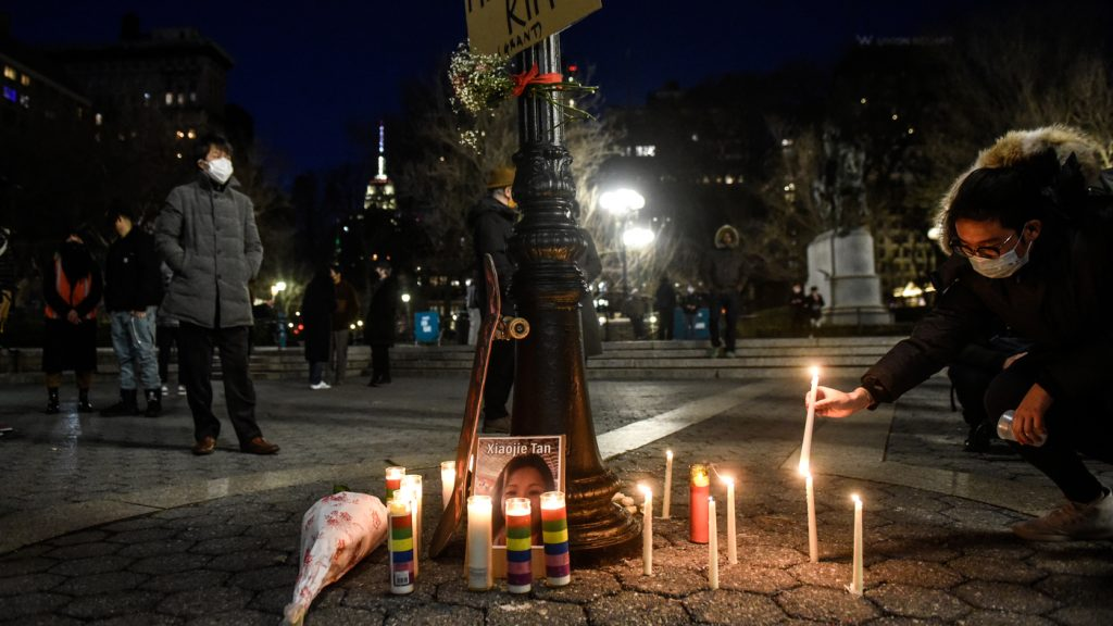 Vigils For Atlanta Victims And Anti-Racism Protests Draw Thousands Across U.S. : NPR