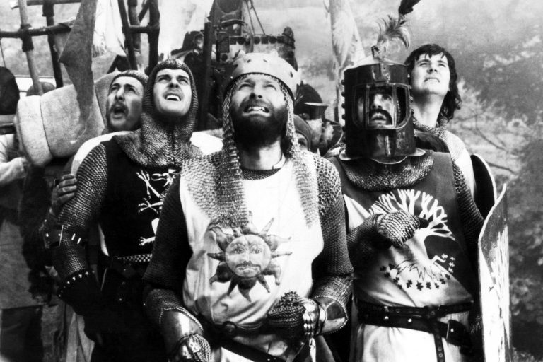 MONTY PYTHON AND THE HOLY GRAIL, Eric Idle, John Cleese, Graham Chapman, Terry Jones, Michael Palin, 1975