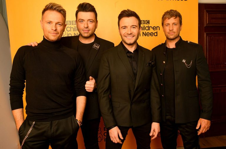 Nicky Byrne, Mark Feehily, Shane Filan and Kian Egan of Westlife