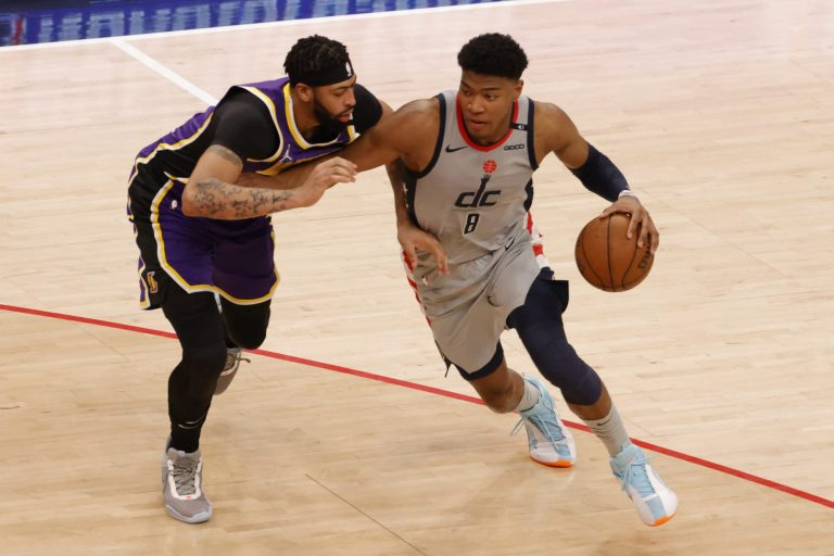 Wizards' Rui Hachimura gets poster of the century on Anthony Davis